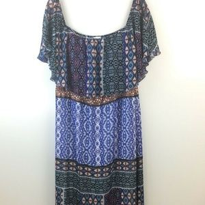 Chico's Women's Short Sleeve Maxi Dress Size 2 -12
